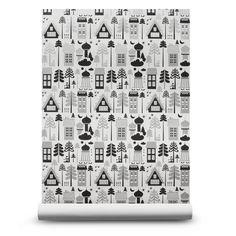Tingleby Black & Silver Wallpaper