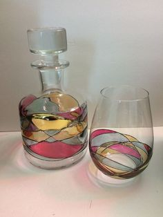 Antoni Barcelona Whiskey Decanter & Stemless Glass.