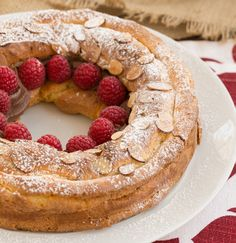 Paris-Brest: a ring of choux pastry filled with cream