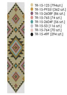Krosno-wzór-na-bransoletkę-Yellow-Pastel. Peyote Beading Patterns, Loom Bracelet Patterns, Peyote Stitch Patterns, Seed Bead Patterns, Bead Loom Bracelets, Woven Bracelets, Loom Beading, Bullet Journal Hand Lettering, Diy Earrings Studs
