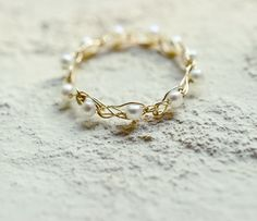 #mayumirings #goldfilled #accessories #jewelry #handmade #14kgf #knitting #pearl