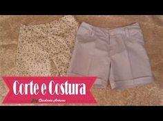 Como Fazer um Shorts Aula de Corte e Costura - Costure em Casa  Short So...