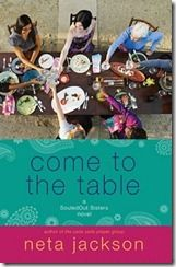 Come to the Table by Neta Jackson ~ Just finished this.  It's sweet, not ground breaking, but I've always enjoyed the gentle writing, and relational story telling of Ms. Jackson.  SHe treats so many different personalities so kindly, and makes them lovable in their own way.