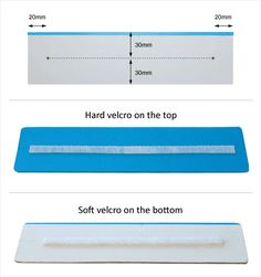 Placing velcro strips on the sentence strip.