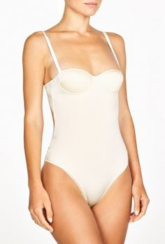 Cream Structured St Barts Multiway Swimsuit by Prism