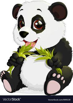 View an illustration of Panda from the community of … Panda Wallpapers, Cute Cartoon Wallpapers, Bear Cartoon, Cartoon Art, Cute Animal Drawings, Cute Drawings, Panda Lindo, Panda Drawing, Cute Panda Wallpaper