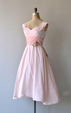 A Fond Farewell dress vintage 1950s dress pink by DearGolden