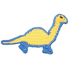 free snoopy crochet applique patterns | Pattern Crochet Dinosaur Applique - by CrochetAppliquePatterns on ...