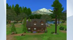 Sieh dir dieses Grundstück in der Die Sims 4-Galerie an! - Blockhaus für den perfekten Familienurlaub      #nathaliesimposium #unterdemaltenweissdorn    www.simposium.de