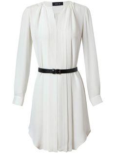 $1440.600 DEREK LAM Pleated Silk Tunic Dress