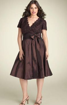 Short Sleeves Evening Dress