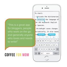 Coffee for Mom reviews our on-the-go writing app WriteRight!