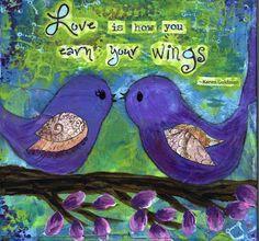 Birds, Love Original Painting