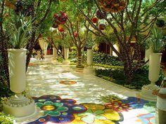 The Wynn, Vegas. This atrium is so beautiful!!