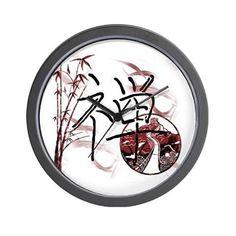 Riyah-Li Designs Zen Wall Clock on CafePress.com