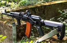 Assault Weapon, Assault Rifle, Weapons Guns, Guns And Ammo, Ak 74, Steampunk Weapons, Battle Rifle, Hunting Guns, Military Guns
