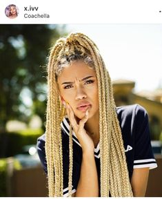 43 Cool Blonde Box Braids Hairstyles to Try - Hairstyles Trends Short Box Braids, Blonde Box Braids, Jumbo Box Braids, Box Braids Hairstyles, Girl Hairstyles, Hairstyles Videos, Baddie Hairstyles, Simple Hairstyles, Everyday Hairstyles