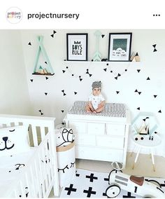 Adorable baby nursery (but someone get that baby down from there!) Adorable baby nursery (but someone get that baby down from there! Baby Boy Rooms, Baby Bedroom, Baby Room Decor, Baby Boy Nurseries, Nursery Room, Kids Bedroom, Room Baby, Bedroom Desk, Baby Boys