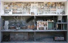 Amazing miniature libraries/urban landscapes.