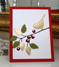 Marybeth's time for paper I am in love what that gold adds to this simple card.