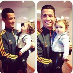 Hermosos!! Salome Rodriguez Ospina y Cristiano Ronaldo