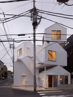 okyo Apartment is a bunch of traditional houses stacked over to form a collective building