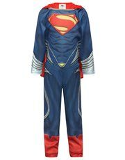Superman costume! Is it a bird? Is it a plane? No it's the Superman dress up costume! Perfect for boys that love this iconic superhero! Featuring a full length Superman design, an elasticated waistband and detachable cape, he will love will feel like a true hero!