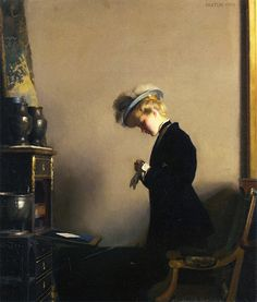 La lettre, 1908 - William McGregor Paxton.