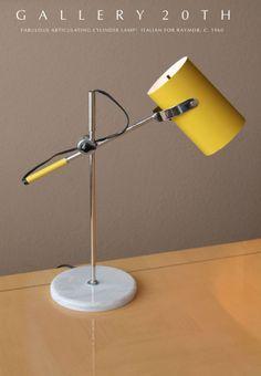 MID CENTURY MODERN ARTICULATING LAMP! Arteluce Raymor Sarfatti Stilnovo Vtg 60s #ItalianforRaymor
