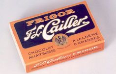 8-Vintage advertisement for Cailler Chocolate, Nestle's premier Swiss brand.