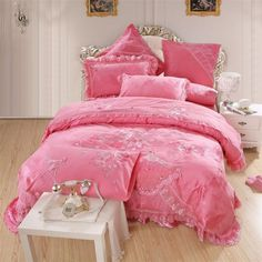 $99 Factory direct princess bedding wedding pieces Scarlet suite wedding suite 6 sets of multi-piece sets -ZZKKO