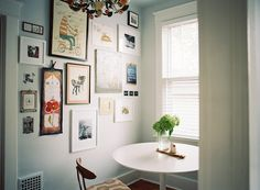 gallery wall   photo by Clark Brewer