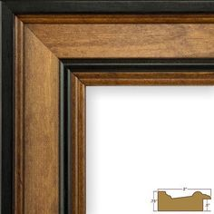 """Charlton Home 2"""" Wide Wood Grain Picture Frame Size: 14"""" x 18"""""""