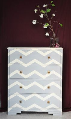 chevron painted furniture. Redemption Refinishing: Chevron Dresser Painted Furniture E