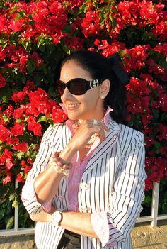 March 20, 2013 http://www.akeytothearmoire.com/post/45831899584/barbie-colors #pink #black #white #stripes #gingham #leather #leather skirt #jellies #pearls #Barbie #hot pink #Giorgio Armani #Ralph Lauren #SAS #Honora #Ann Taylor #classic #preppy #chic #elegant #work #professional #casual #feminine #blazer #shirt #clutch