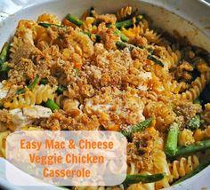 Easy Mac & Cheese Veggie Chicken Casserole Recipe #CountryCrockCasserole #ad http://momalwaysfindsout.com/2013/06/chicken-vegetable-casserole/