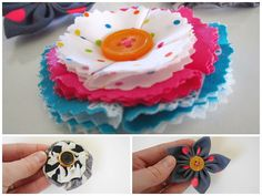 PDF Fabric Flowers Pattern and Tutorial in 3 Styles by StyleNovice