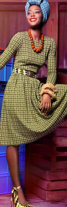 Lena Hoschek 2015 women fashion outfit clothing style apparel @roressclothes closet ideas