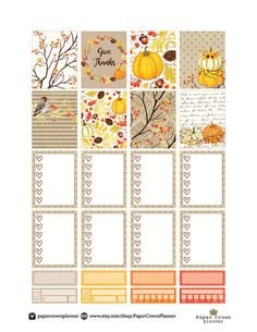 GIVE THANKS Weekly Planner Sticker Kit/Erin by PaperCrownPlanner