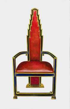 this chair is art deco because the style of the back looks a lot like the style of buildings from that era
