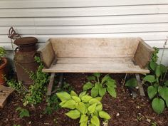 Old wooden bench...