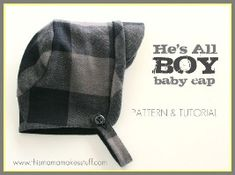 Free pattern: He's All Boy baby cap · Sewing   CraftGossip.com