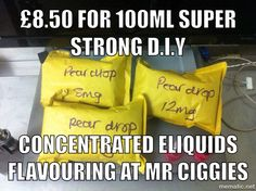Super concentrated flavours available from £8.50