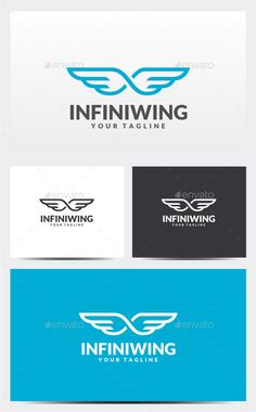 Infinity Wing Logo — Photoshop PSD #eternal #vector • Available here → https://graphicriver.net/item/infinity-wing-logo/11934118?ref=pxcr