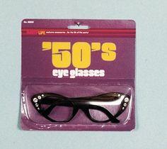 1950's Cats Eye Sunglasses Greaser Retro Women's Costume Accessory