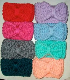 Crocheted head bands... give me every color!
