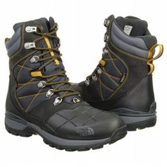 The North Face Snowsquall Tall Boots (Tnf Black/Yellow) - Men's Boots - 9.0 M