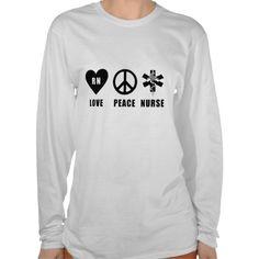 A Love Peace RN T-shirt For Nurses