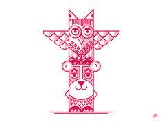 Owl Totem by Petr Had #Design Popular #Dribbble #shots