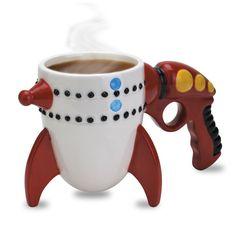 Amazon.com: Big Mouth Toys The Retro Ray Gun Rocket Mug: Kitchen & Dining